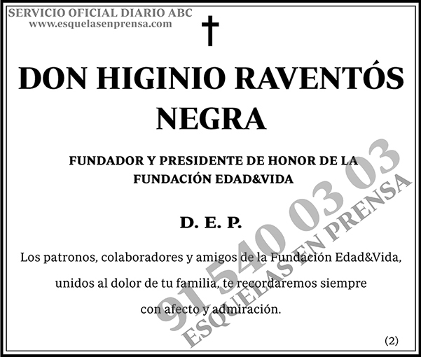 Higinio Raventós Negra